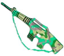 12 CAMOFLAUGE INFLATABLE TOY MACHINE GUN play 34 in blow up inflate boy rifle