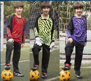 New Boys Men Soccer Goalie Uniform Children Adult Jersey+ Pants Goalkeeper Kit