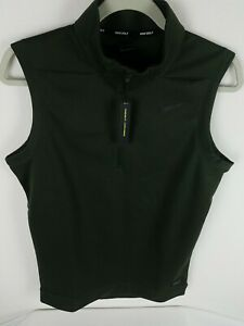 Nike Therma 1/4 Zip Golf Vest Size S-Tall Men's Green Water Repellant AQ0816-355