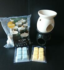 wax oil melt set with burner and candles