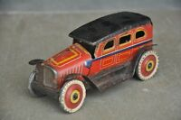 Vintage Wind Up I.I Trademark 19329 Litho Sedan Car Tin Toy  , Japan
