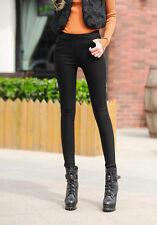 Fashion Womens Winter Warm Pants Leggings Fleece Lined Skinny Thick Pencil Pant