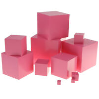 Pink Tower Wooden Montessori Material Toy for Kids Home and School Teaching