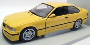 UT Models 1/18 Scale Model Car 180 022300 - 1996 BMW M3 Coupe - Yellow