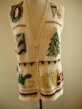 Womens M Mens S Heirloom Collectibles 1996 Christmas Sweater Vest Ugly White NWT