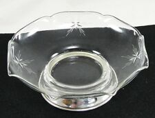 Wallace Sterling Silver Bottom Foot Glass Bowl Starburst Atomic A 92