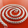 Necklace Chain Real 925 Sterling Silver S/F Heavy Unisex Solid Link Design