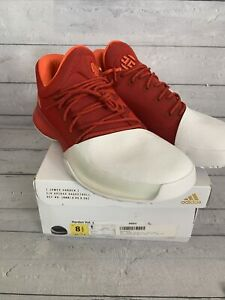 Harden Vol. 1 size 8.5 Men WORN New With Box adidas white red