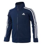 NWT ADIDAS BOYS SIZE 7 ~ NAVY & WHITE FULL ZIP CLASSIC TRACK JACKET MSRP $40.00