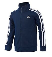 NWT ADIDAS BOYS SIZE 5 ~ NAVY & WHITE FULL ZIP CLASSIC TRACK JACKET MSRP $40.00