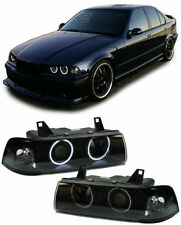 Black ccfl angel eye phares projecteurs bmw E36 saloon estate & compact