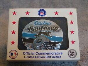VTG Carolina Panthers Belt Buckle 1994 Team NFL Football Siskiyou Limited 3688