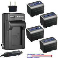 Kastar NP-QM71D Battery Charger Sony DSR-PDX10 HDR-HC1 HDR-SR1 HDR-UX1 HVR-A1U