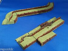 15mm set of defensive earthworks - ditch and bank - suitable for ECW etc.