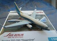 herpa air berlin b737-700 dreamliner a metall1:500 nr514514 in ovp aus sammlung