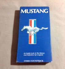Mustang An Inside Look At The History And Perfection Of A Legend VHS 1987