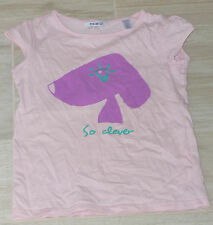 """5217 - T-shirt MC 5 ans OKAIDI fantaisie rose chien """"so clever"""""""