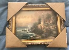 THOMAS KINKADE THE LIGHT OF PEACE ACCENT PRINT FRAMED - MATTED WITH COA