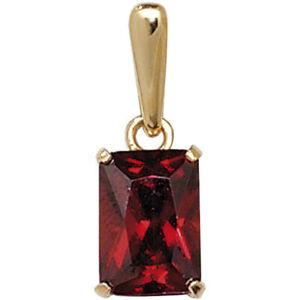 9ct Gold January Birthstone Pendant Red Garnet Coloured Jewellery