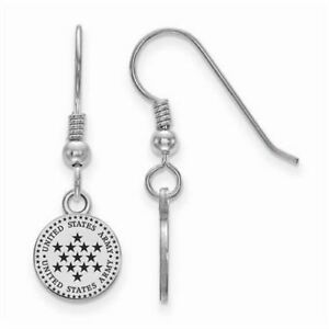 Sterling Silver United States Army Epoxied Small Dangle Earrings