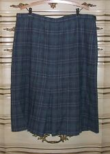 Pendleton Gray Plaid Straight 100% Wool Lined Skirt Size 36