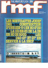 RMF N°211 NOUVEAUTES JOUEF / CONSTRUCTION D'UNE 232-U-1 EN HO / 131-BR-23