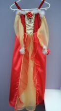 DISNEY PRINCESS BELLE RED FANCY DRESS COSTUME, AGE  7-8