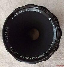 Asahi Pentax Super Multi Coated MACRO Takumar 50mm f/4  Lens Screw Mount RARE