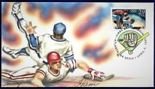 LOIS HAMILTON Hand Painted : 1992 Debut of Olympic Baseball - w/Pictorial Cancel