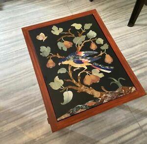 Marmor Table Top Handgefertigt Pietra Dura Arbeit Heim Möbel
