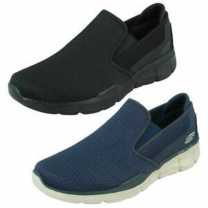 Hombre Skechers Espuma Viscoelástica Zapatillas sin Cordones Tracterric 52936
