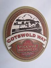 Beer Coaster <> Wickwar Brewing Co <> Cotswold Way 4.2% <> Beer Of The Cotswold