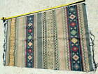 Authentic Hand Knotted Woven Vintage Rug 5' x 3', Colorful