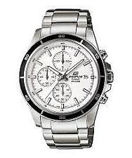 Men's Edifice EFR526D-7AV Silver Stainless-Steel White Dial Fashion Watch
