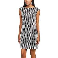 CHAPS Womens Lace Shift Dress BLACK & WHITE (Womens Size 16) NWT MSRP $100