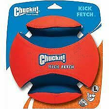 Chuckit! Kick Fetch for Dogs in Orange / Blue with Deep Ridges - Large