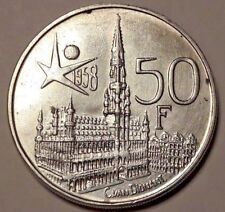 50 Francs Belgique 1958 FR TTB SUP Expo 50 Frank Belgïe Boudewijn Koning