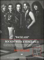 Neal Schon 1991 Bad English Backlash ad 8 x 11 Sony Epic advertisement