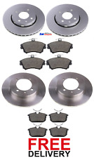 FOR VOLVO S40 / V40 T4 (1998-2003) FRONT & REAR BRAKE DISCS AND PADS SET *NEW*