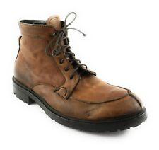 Barneys New York Brown Leather Boots CO OP Distressed Casual Work Size 11.5