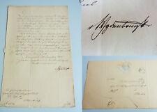 Oskar von WYDENBRUGK (1815-1876): Signiertes Schreiben WEIMAR 1853 wg Stipendium