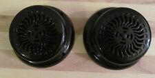 "2 RV Marine Glossy Black Wave 5.25"" Flush Mount Speakers UV Protect Waterproof"