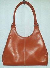 Orange purse handbag vegan leather St. John's Bay lined sections Excellent