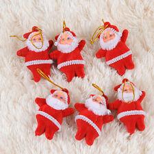 6x Xmas Santa Claus Drop Pendant Ornament Christmas Tree Hanging Decoration Gift