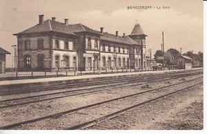 Ansichtskarte Lothringen  Benestroff  La Gare  Bahnhof