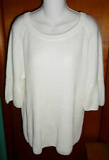 NWT Worthington White Bell Sleeve Sweater XL