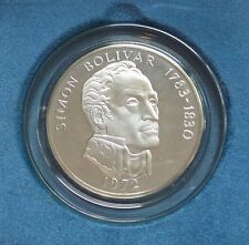 Large 1972 Panama 20 Balboas Silver Proof Coin with Original Box