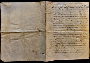 KING LOUIS XV SIGNED DECLARATION THE DISPENSATION OF NOBILITY TO PARLIAMENT 1744