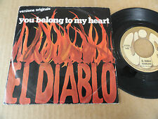 """DISQUE 45T DE EL DIABLO  """" YOU BELONG TO MY HEART """""""