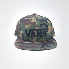 Vans Baseball Hat Snapback Cap Men's New Camo Green Drop V Logo